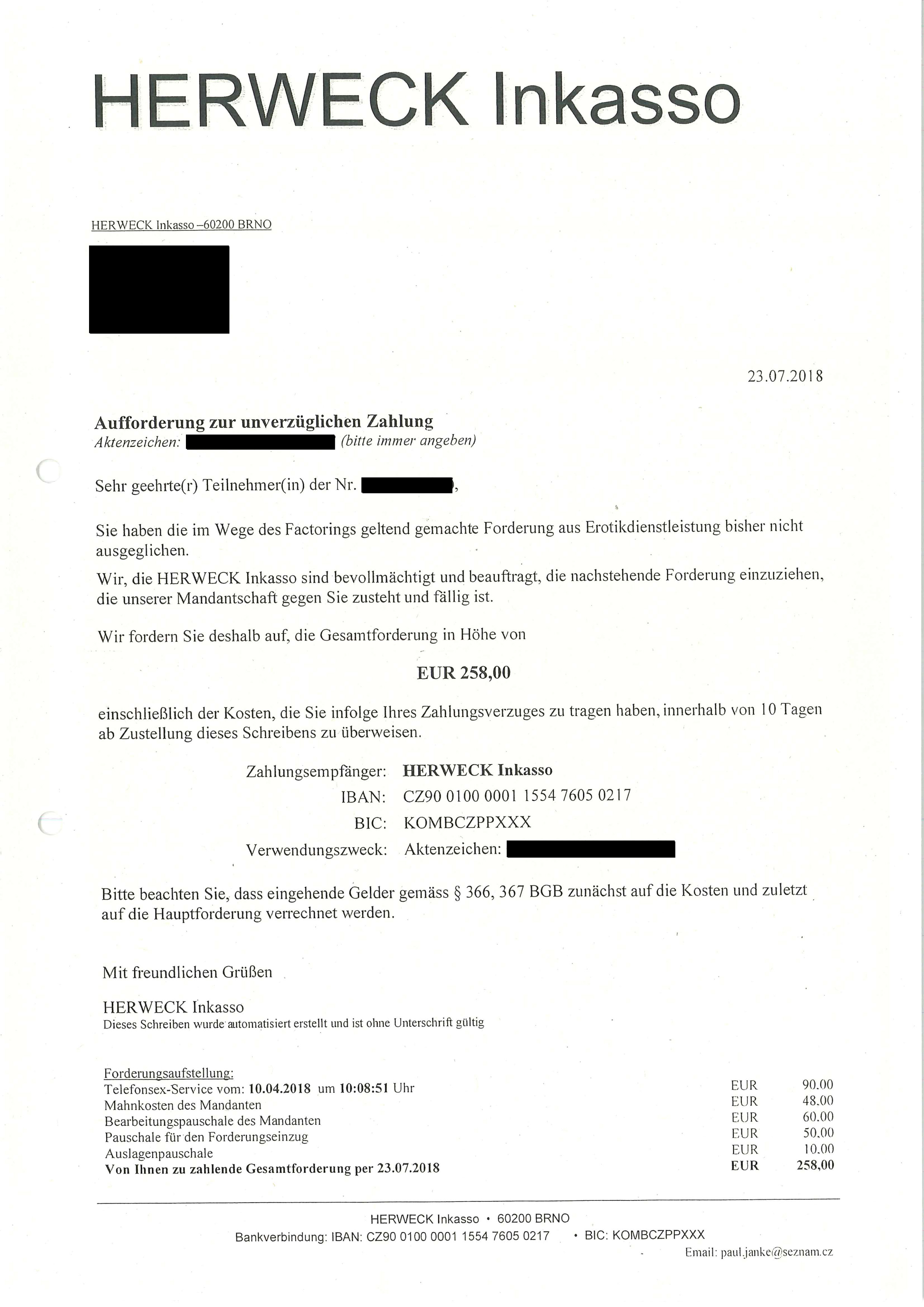 Zweifelhafte Inkassofirmen Aus Tschechien Verschicken Rechnungen